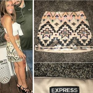 Express Aztec sequence mini skirt XS-S